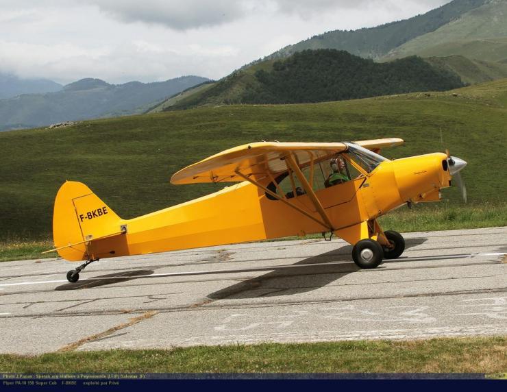 PA-18_F-BKBE_Peyresourde_(LFIP)-Balestas__(F)-24687-par-SpotAir